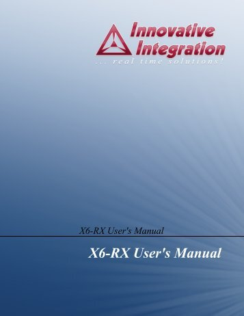 X6-RX User's Manual