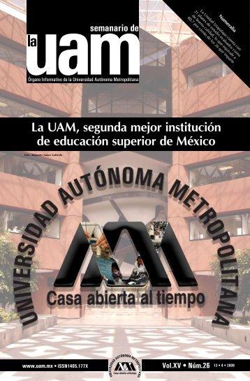 La UAM, segunda mejor institución de educación superior de México