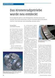 Das Kronenradgetriebe wurde neu entdeckt - ASSAG ...