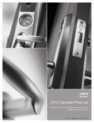 2012 Canadian Price List - Assa Abloy