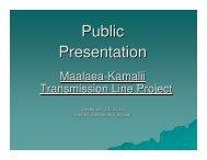 Kamalii Transmission Line Project - Heco.com