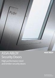 ASSA ABLOY Security Doors - RIBA Product Selector