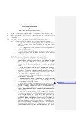 Article of Association - Punjab Police Housing Corporation