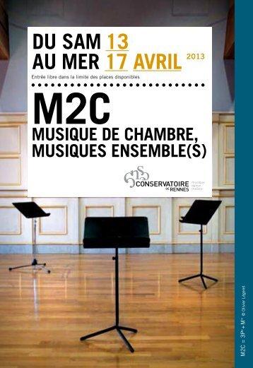 Programme détaillé - Conservatoire de Rennes