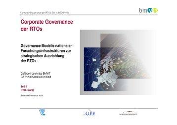 Corporate Governance der Rtos - Teil II Rto-Profile
