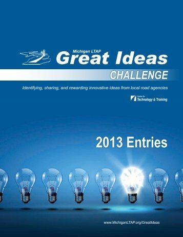 2013 Great Ideas Booklet - Michigan's Local Technical Assistance ...
