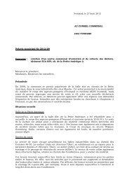 Préavis 2012-09 réation d'un centre de collecte - Yvonand