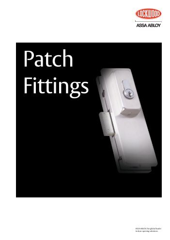 Patch Fitting - ASSA ABLOY