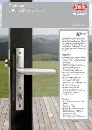 Optimum 2-Point Mortice Lock - Assa Abloy