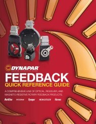 Feedback Quick Reference Guide - Dynapar