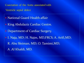 Coarctation of the Aorta associated with Ventricle ... - RM Solutions