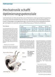 Mechatronik schafft Optimierungspotenziale - ASSAG ...