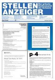 Der grösste Stellenmarkt der Schweiz - Tagesanzeiger e-paper ...