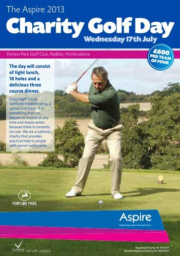 Charity Golf Day - Aspire