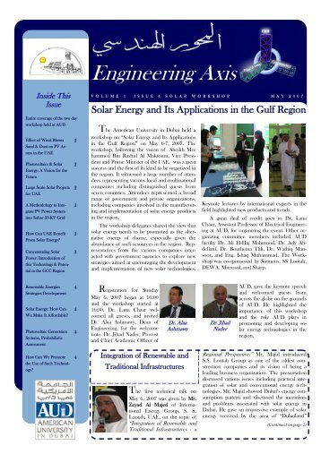Volume 1 - Issue 3 - School of Engineering - American University in ...