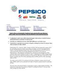 700 Anderson Hill Road Purchase, New York 10577     - PepsiCo