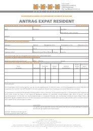 Antrag Expat Resident
