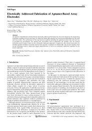 Electrically Addressed Fabrication of Aptamer-Based Array Electrodes