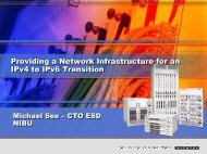 Providing a Network Infrastructure for an IPv4 to IPv6 Transition ...