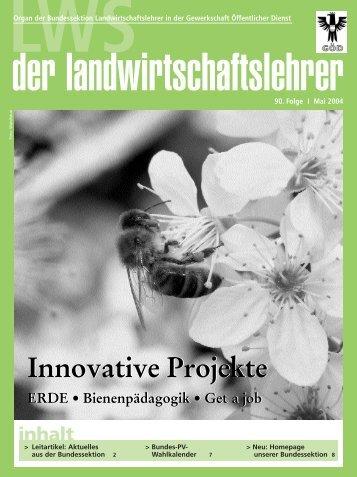 Innovative Projekte Innovative Projekte - landwirtschaftslehrer.com