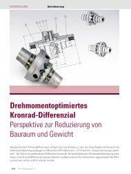 Drehmomentoptimiertes Kronrad-Differenzial Perspektive zur ...