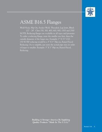 ASME B16.5 Flanges