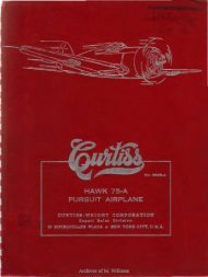 Detail Specifications for Curtiss Hawk 75-A Airplane - WWII Aircraft ...