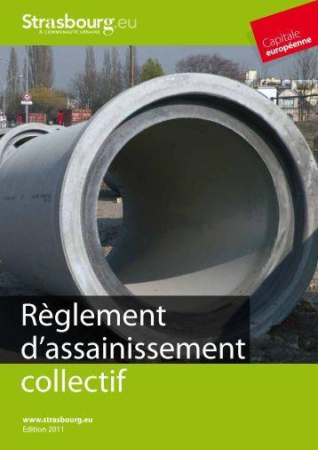 Règlement d'assainissement collectif - Strasbourg