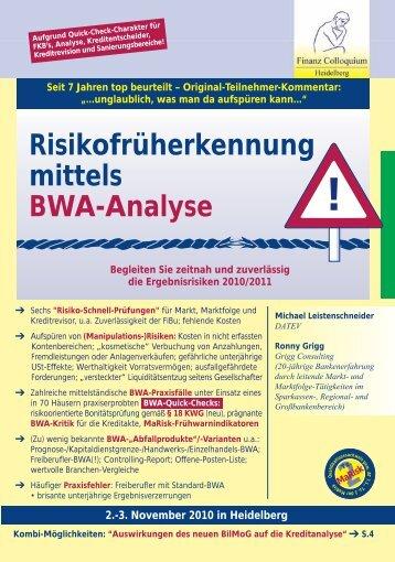 Risikofrüherkennung mittels BWA-Analyse - Grigg Consulting ...