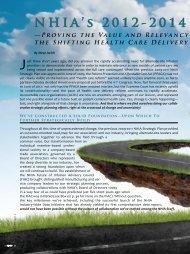 NHIA's 2012-2014 Strategic Plan—Proving the Value