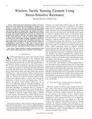 Wireless tactile sensing element using stress-sensitive ... - IEEE Xplore