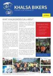 1st Edition Newsletter - Khalsa Bikers