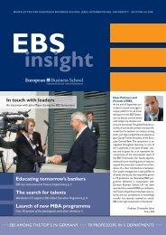www .ebs.edu - Poole College of Management