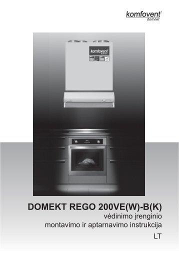 DOMEKT REGO 200VE(W)-B(K) - komfovent