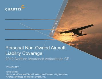 Aerospace - Aviation Insurance Association Annual Conference