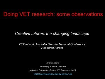 2010 Adelaide Conference - Research Forum - Shore - VETnetwork ...