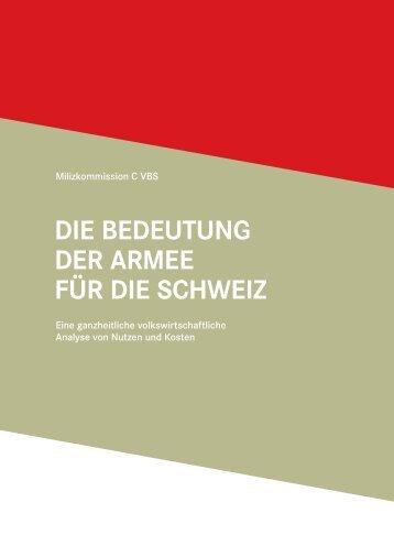 Die Bedeutung der Armee für die Schweiz - admin.ch