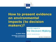 How to present evidence on environmental impacts (to ... - IPSC