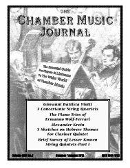 Chamber Music Journal