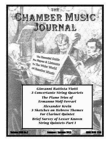 Chamber Music Journal