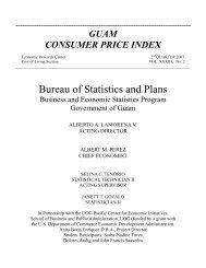 Guam Consumer Price Index 2007 - 2nd Quarter