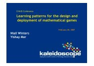 Learning patterns for the design and deployment of mathematical ...