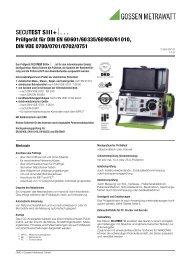 SECUTEST SIII+⏐. . . - PK elektronik Poppe GmbH