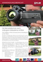 Anwendungsbericht FLIR B660 Wärmebildkamera