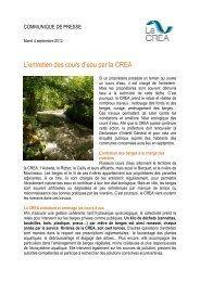 CP entretien des rivieres - La Crea