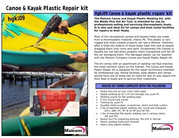 Canoe & Kayak Plastic Repair kit hgk109 - ThomasNet