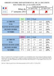 Bilan du 1er semestre 2013