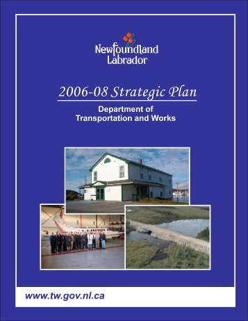 Department of Transportation and Works Strategic Plan 2006-08