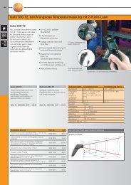 testo 830-T2, berührungslose Temperaturmessung mit 2-Punkt-Laser