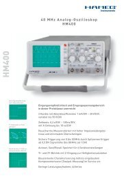 40 MHz Analog-Oszilloskop HM400 - PK elektronik Poppe GmbH